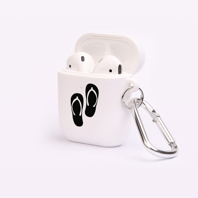 AirPods 1 & 2 Case, Protective TPU Box with Hook, Black Thongs | iCoverLover Australia