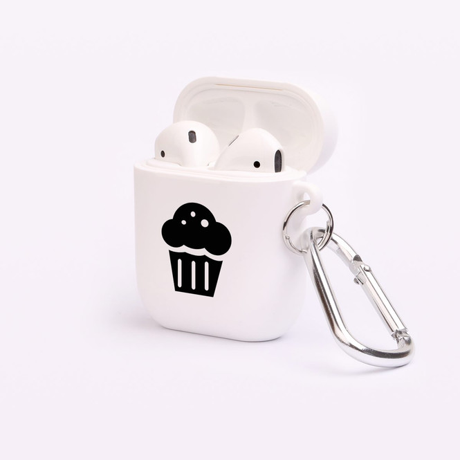 AirPods 1 & 2 Case, Protective TPU Box with Hook, Muffin | iCoverLover Australia