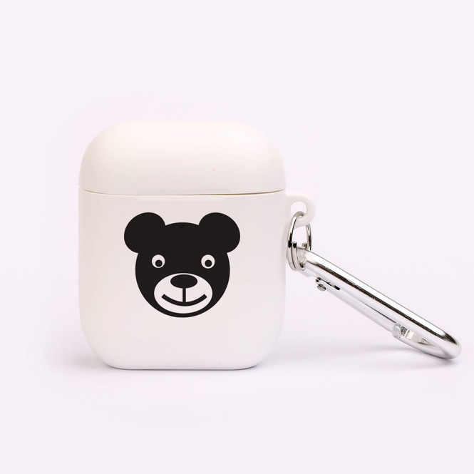 AirPods 1 & 2 Case, Protective TPU Box with Hook, Friendly Bear | iCoverLover Australia