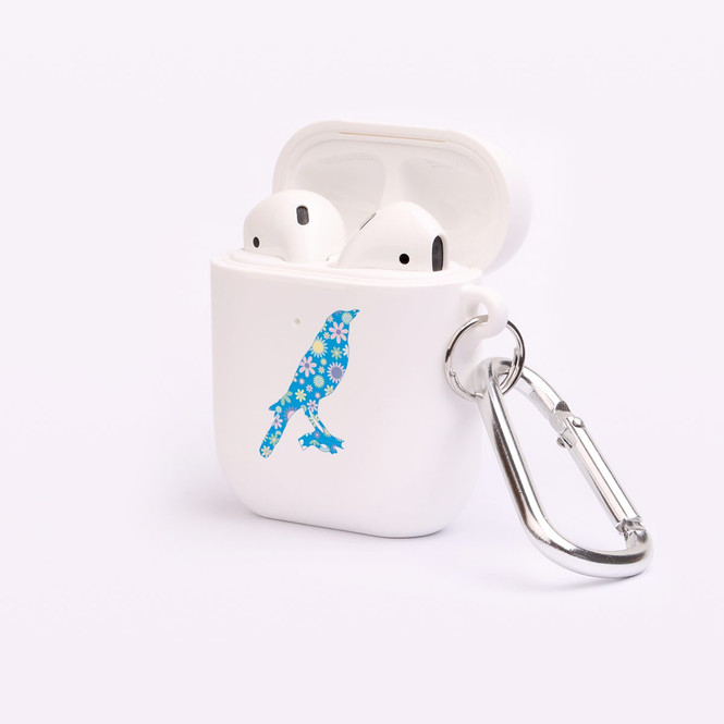 AirPods 1 & 2 Case, Protective TPU Box with Hook, Floral Blackbird | iCoverLover Australia