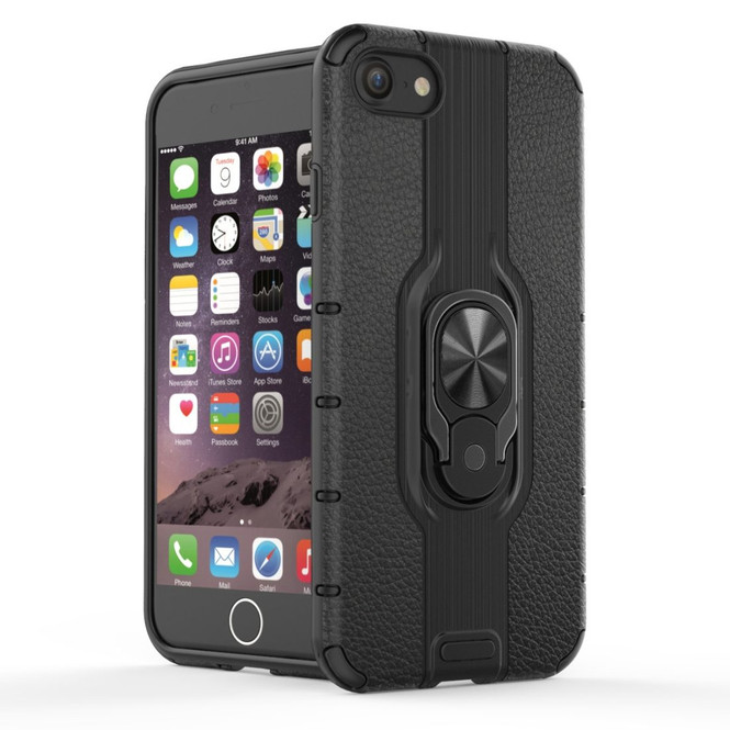 For iPhone SE 2020 / 8 / 7 Shockproof PC + TPU Protective Case, Ring Holder Back Cover   iCoverLover Australia