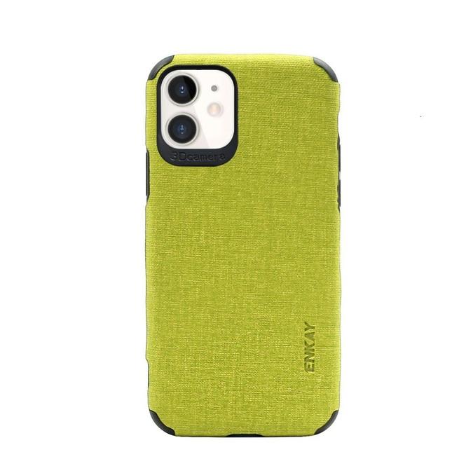 iPhone 11, 11 Pro & 11 Pro Max Case, Fabric Texture Denim Slim Fashionable Protective Cover, Green | iCoverLover Australia