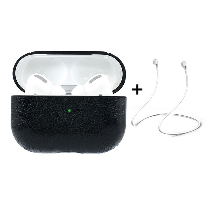 Apple AirPods Pro Case Protective Cover with Anti-Lost Rope & Hook Black