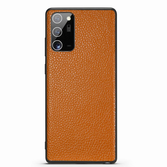 Samsung Galaxy Note 20, 20 Ultra Case Genuine Leather Durable Slim Fit Protective Cover Brown