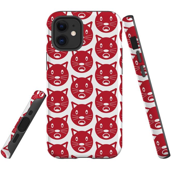 For Apple iPhone 12 Pro Max/12 Pro/12 mini Case, Tough Protective Back Cover, recat pattern | iCoverLover Australia