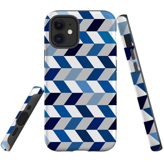 For Apple iPhone 12 Pro Max/12 Pro/12 mini Case, Tough Protective Back Cover, Zigzag Chevron Pattern | iCoverLover Australia