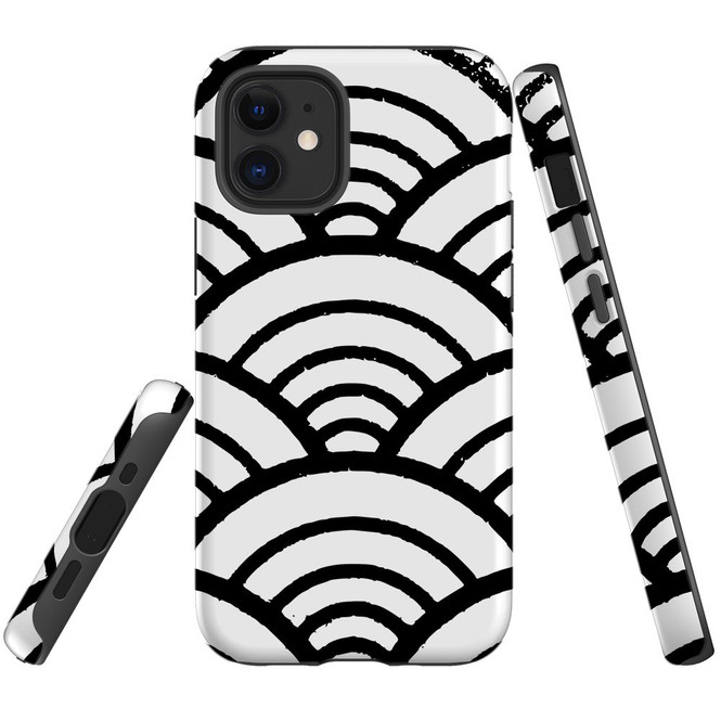 For Apple iPhone 12 Pro Max/12 Pro/12 mini Case, Tough Protective Back Cover, Japanese Folk Wave | iCoverLover Australia