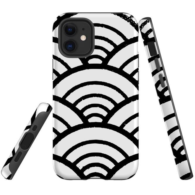 For Apple iPhone 12 Pro Max/12 Pro/12 mini Case, Tough Protective Back Cover, Japanese Folk Wave | iCoverLover Australia