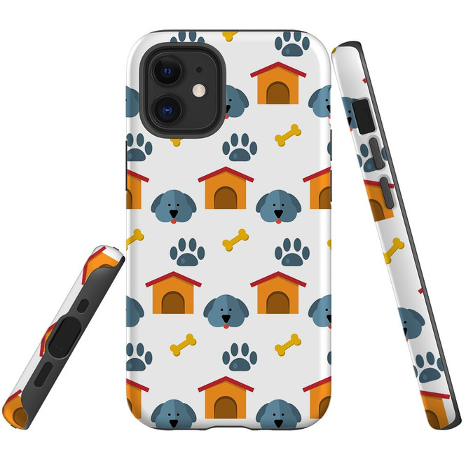 For Apple iPhone 12 Pro Max/12 Pro/12 mini Case, Tough Protective Back Cover, dog pattern | iCoverLover Australia