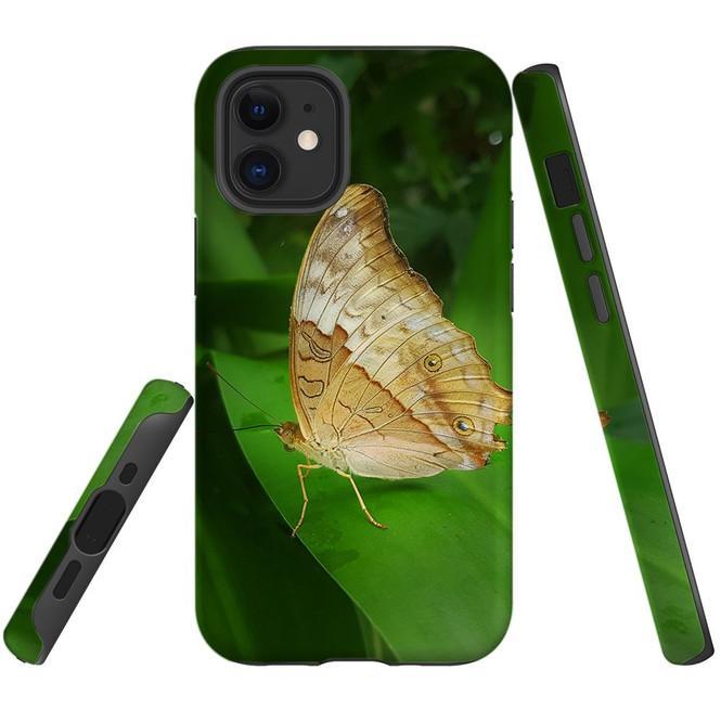 For Apple iPhone 12 Pro Max/12 Pro/12 mini Case, Tough Protective Back Cover, Yellow Butterfly | iCoverLover Australia