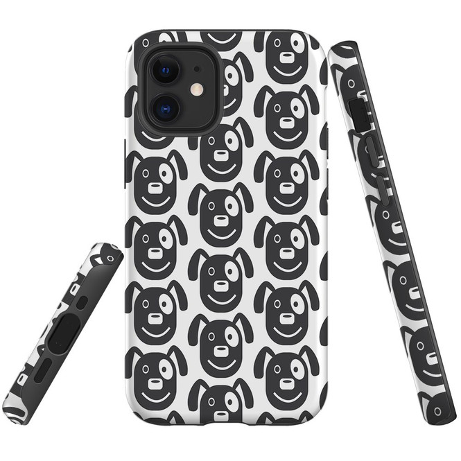 For Apple iPhone 12 Pro Max/12 Pro/12 mini Case, Tough Protective Back Cover, dog heapattern | iCoverLover Australia