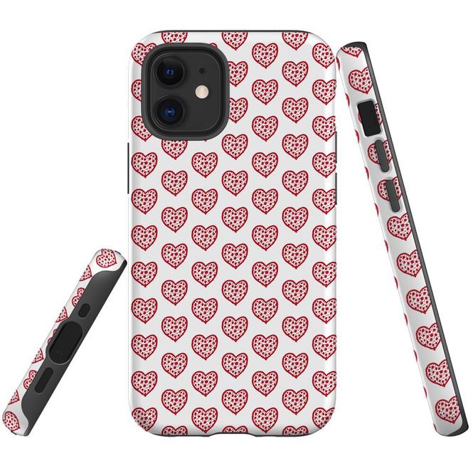 For Apple iPhone 13 Pro Max/13 Pro/13 mini,12 Pro Max/12 Pro/12 mini Case, Tough Protective Back Cover, reheart pattern | iCoverLover Australia