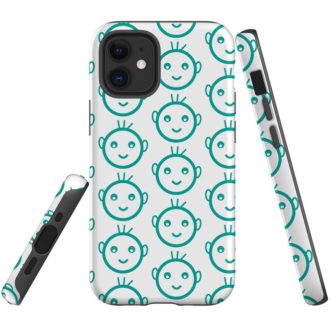 For Apple iPhone 12 Pro Max/12 Pro/12 mini Case, Tough Protective Back Cover, baby heapattern | iCoverLover Australia
