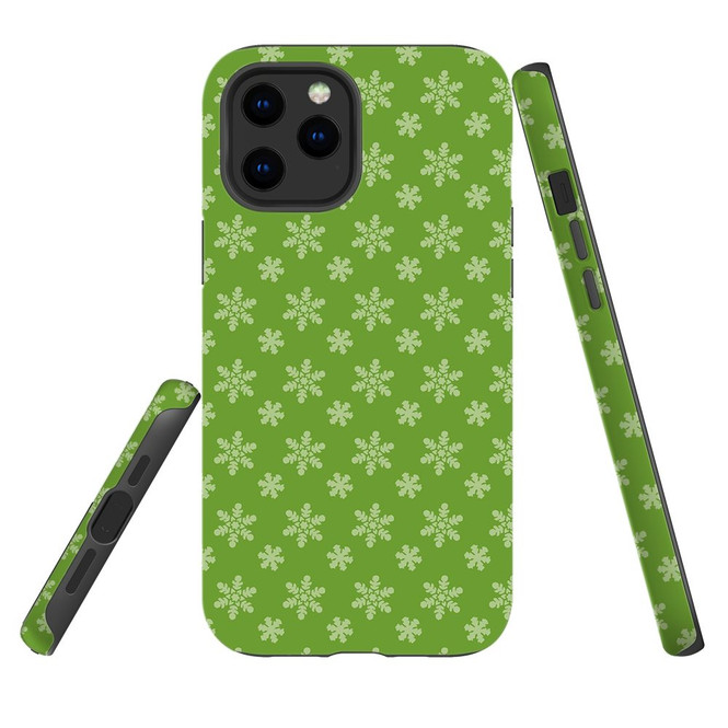 For Apple iPhone 12 Pro Max/12 Pro/12 mini Case, Tough Protective Back Cover, snowflake pattern | iCoverLover Australia