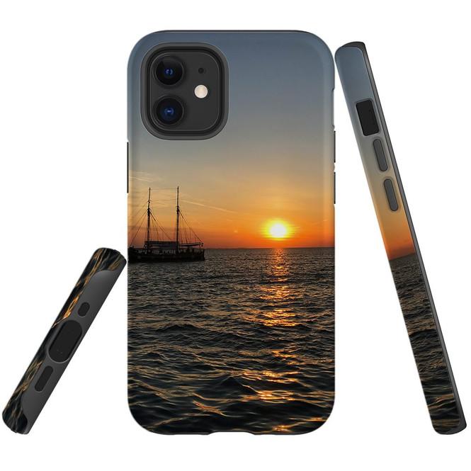 For Apple iPhone 13 Pro Max/13 Pro/13 mini,12 Pro Max/12 Pro/12 mini Case, Tough Protective Back Cover, Sailing Sunset   iCoverLover Australia