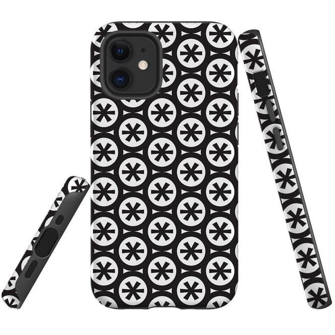 For Apple iPhone 13 Pro Max/13 Pro/13 mini,12 Pro Max/12 Pro/12 mini Case, Tough Protective Back Cover, star black pattern | iCoverLover Australia