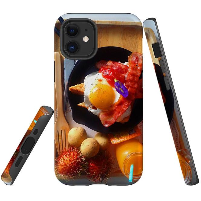 For Apple iPhone 12 Pro Max/12 Pro/12 mini Case, Tough Protective Back Cover, delicious breakfast | iCoverLover Australia