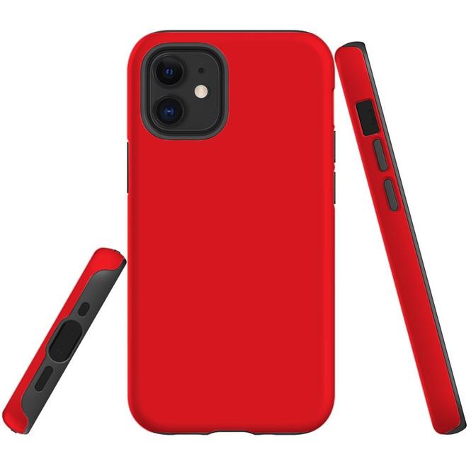 For Apple iPhone 12 Pro Max/12 Pro/12 mini Case, Tough Protective Back Cover, Red | iCoverLover Australia
