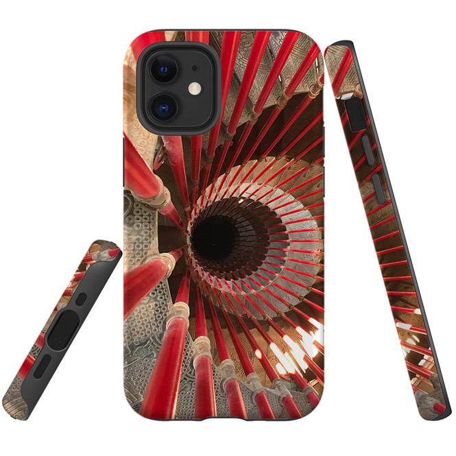 For Apple iPhone 12 Pro Max/12 Pro/12 mini Case, Tough Protective Back Cover, spiral staircase | iCoverLover Australia