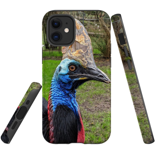 For Apple iPhone 12 Pro Max/12 Pro/12 mini Case, Tough Protective Back Cover, Cassowaries | iCoverLover Australia
