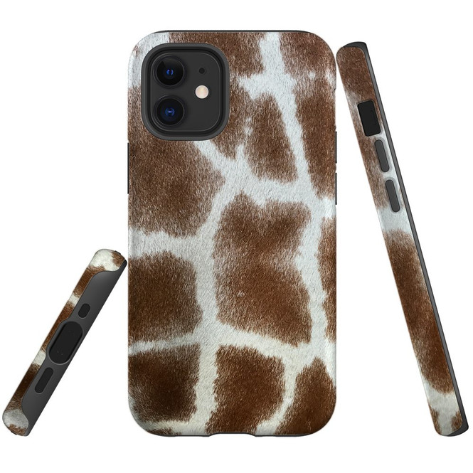 For Apple iPhone 12 Pro Max/12 Pro/12 mini Case, Tough Protective Back Cover, giraffe pattern | iCoverLover Australia
