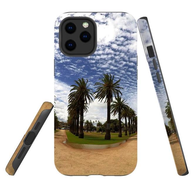 For Apple iPhone 12 Pro Max/12 Pro/12 mini Case, Tough Protective Back Cover, st kilda palm walkway 2   iCoverLover Australia