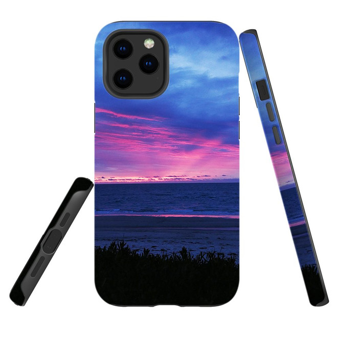For Apple iPhone 12 Pro Max/12 Pro/12 mini Case, Tough Protective Back Cover, sunset at henley beach | iCoverLover Australia