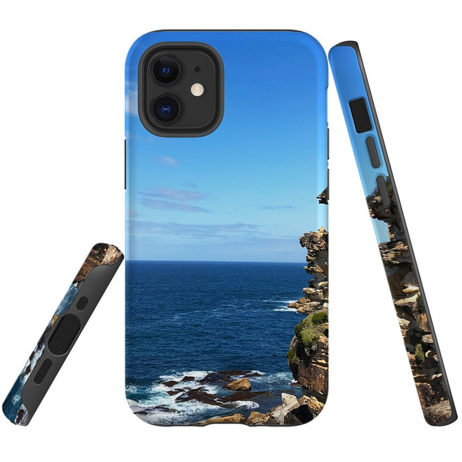 For Apple iPhone 12 Pro Max/12 Pro/12 mini Case, Tough Protective Back Cover, Ocean Cliffs | iCoverLover Australia