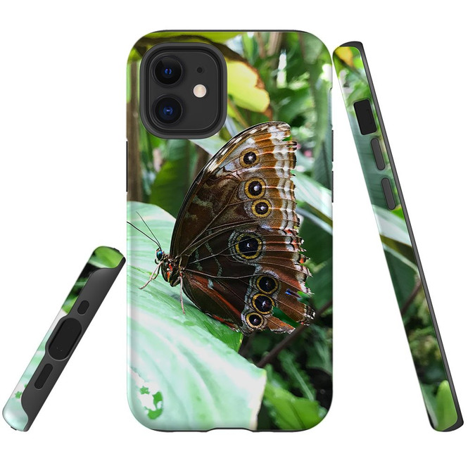 For Apple iPhone 12 Pro Max/12 Pro/12 mini Case, Tough Protective Back Cover, Butterfly Leaf | iCoverLover Australia
