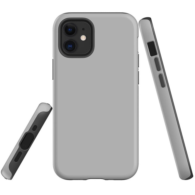 For Apple iPhone 12 Pro Max/12 Pro/12 mini Case, Tough Protective Back Cover, Grey | iCoverLover Australia