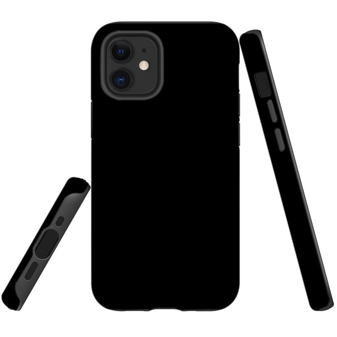 For Apple iPhone 12 Pro Max/12 Pro/12 mini Case, Tough Protective Back Cover, Black | iCoverLover Australia