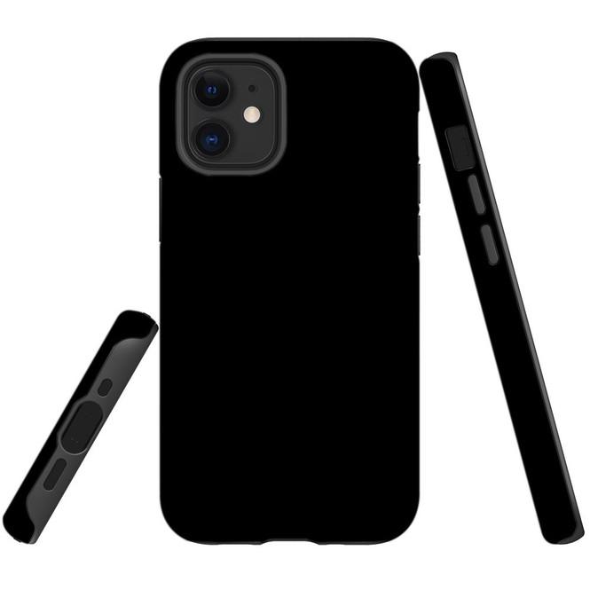 For Apple iPhone 12 Pro Max/12 Pro/12 mini Case, Tough Protective Back Cover, Black   iCoverLover Australia