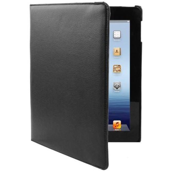 Black Rotatable Leather Smart Function iPad 2 / iPad 3 / iPad 4 Case | Fashion iPad Cases | iPad Covers | iCoverLover