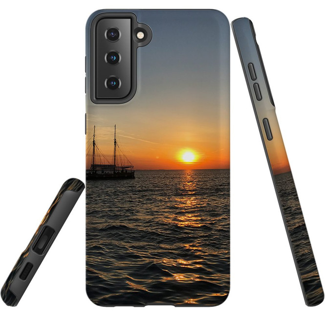 Samsung Galaxy S21 Ultra/S21+ Plus/S21  Case, Tough Protective Back Cover, Sailing Sunset   iCoverLover.com.au   Phone Cases