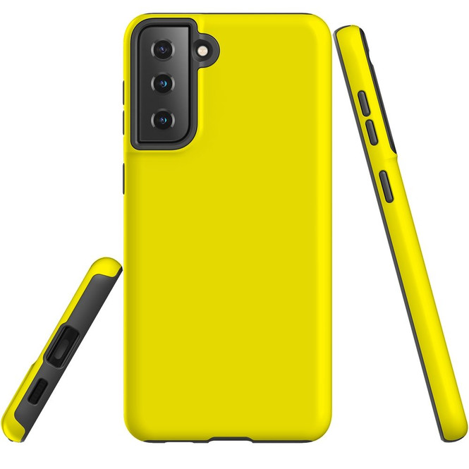 Samsung Galaxy S21 Ultra/S21+ Plus/S21  Case, Tough Protective Back Cover, Yellow   iCoverLover.com.au   Phone Cases