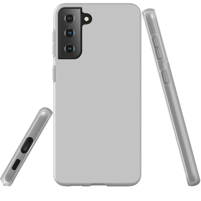 Samsung Galaxy S21 Ultra/S21+ Plus/S21 Flexi Case, Clear Protective Soft Back Cover, Grey | iCoverLover.com.au | Phone Cases