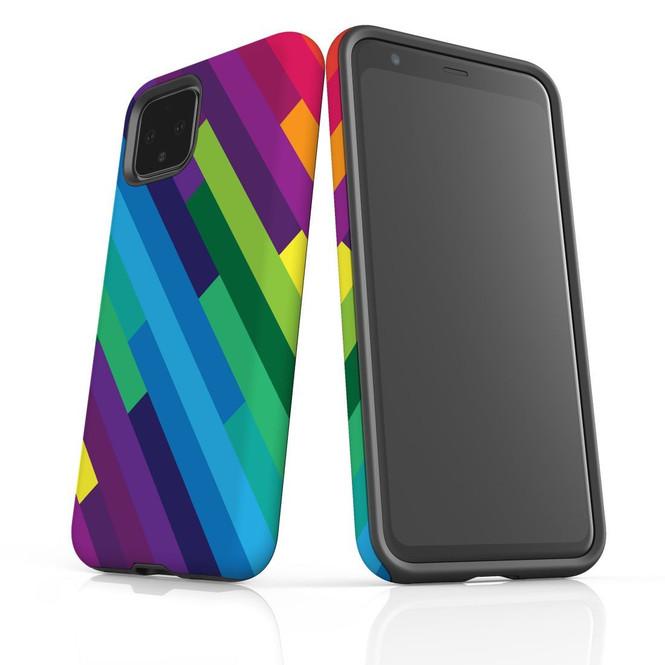 Google Pixel 5/4a 5G,4a,4 XL,4/3XL,3 Case, Tough Protective Back Cover, Rainbow   iCoverLover Australia