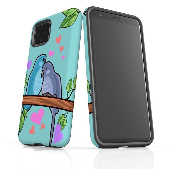 Google Pixel 5/4a 5G,4a,4 XL,4/3XL,3 Case, Tough Protective Back Cover, Birds in Love | iCoverLover Australia