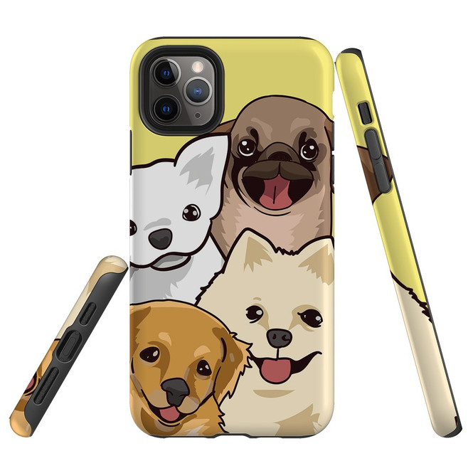 Protective iPhone Case, Tough Back Cover, Cute Puppies   iCoverLover Australia