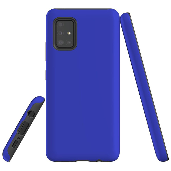 Samsung Galaxy A51 5G/4G, A71 5G/4G or A90 5G Case, Tough Protective Cover, Blue   iCoverLover Australia