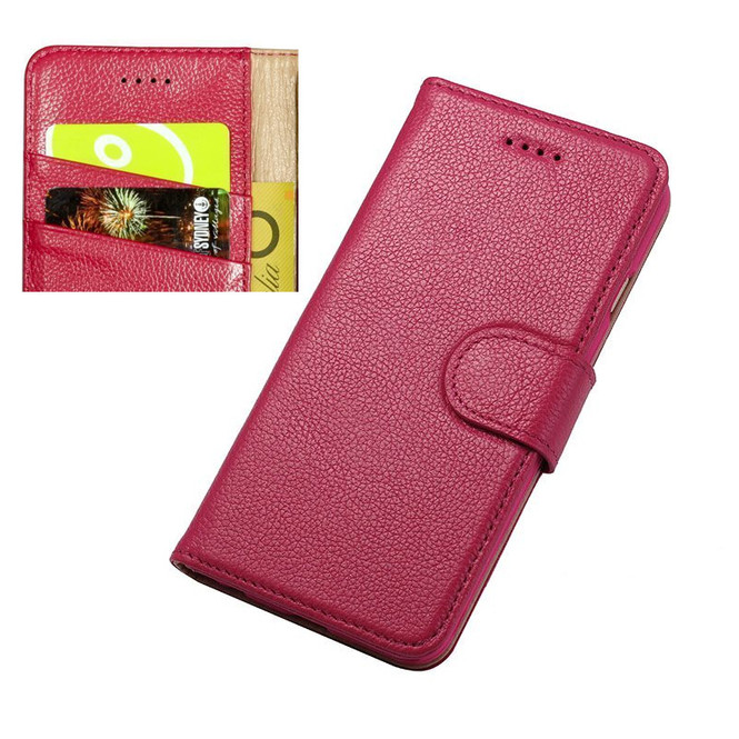 iPhone 6S & 6 Case Pink Fashion Cowhide Genuine Leather Wallet with Card and Cash Compartments   Genuine Leather iPhone 6 & 6S Covers Cases   Genuine Leather iPhone 6 & 6S Covers