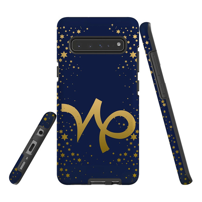 For Samsung Galaxy S21 Ultra/S21+ Plus/S21,S20 Ultra/S20+/S20,S10 5G, S10+/S10/S10e, S9+/S9 Case, Tough Protective Back Cover, Capricorn Sign   Protective Cases   iCoverLover.com.au