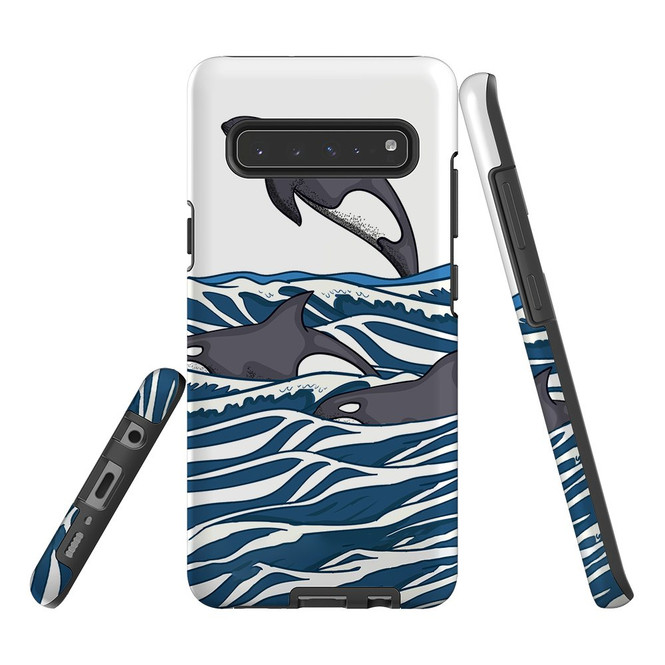 For Samsung Galaxy S21 Ultra/S21+ Plus/S21,S20 Ultra/S20+/S20,S10 5G, S10+/S10/S10e, S9+/S9 Case, Tough Protective Back Cover, Orcas | Protective Cases | iCoverLover.com.au