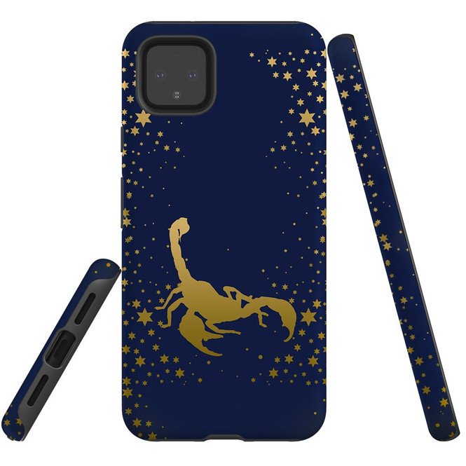 For Google Pixel 5/4a 5G,4a,4 XL,4/3XL,3 Case, Tough Protective Back Cover, Scorpio Drawing   Protective Cases   iCoverLover.com.au