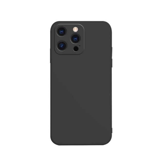 For iPhone 13 Pro Max, 13, 13 Pro, 13 mini Case, Liquid Silicone Flannel Lined Back Cover, Black   Plastic Cases   iCoverLover.com.au