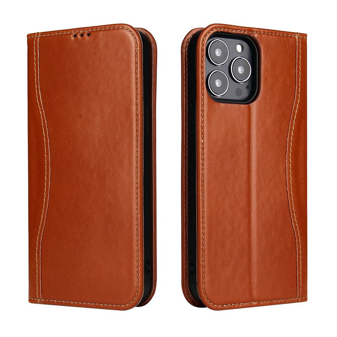 iPhone 13 Pro Max, 13, 13 Pro, 13 mini Case, Real Leather Wallet Cover, Brown | iCoverLover Australia