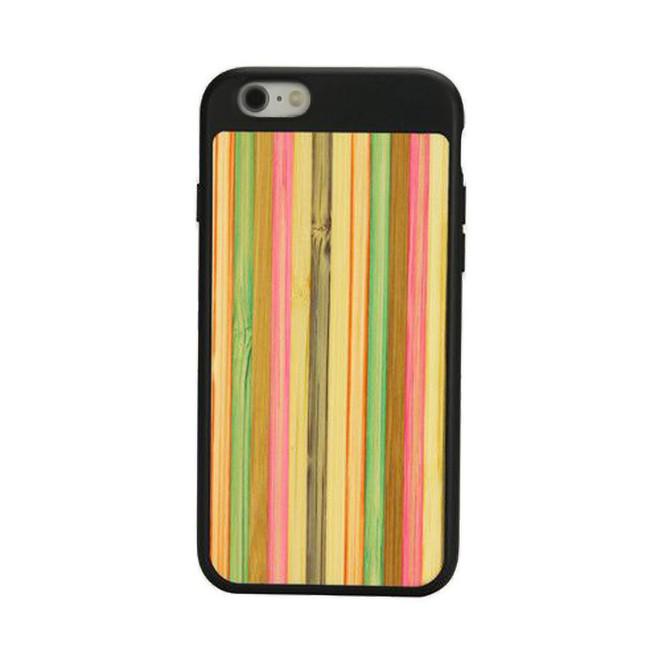 Black Bamboo Rainbow iPhone 6 & 6S Case | Wooden iPhone Cases | Wooden iPhone 6 & 6S Covers | iCoverLover