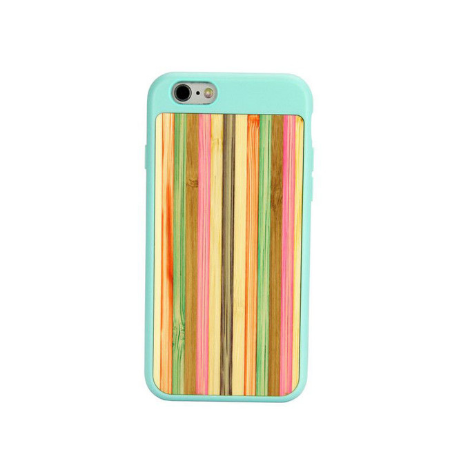 Blue Bamboo Rainbow iPhone 6 & 6S Case | Wooden iPhone Cases | Wooden iPhone 6 & 6S Covers | iCoverLover