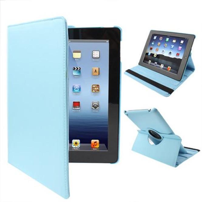 Baby Blue Rotatable Leather iPad 2, iPad 3, iPad 4 Case   Cool iPad 2, 3, 4 Cases   iPad 2, 3, 4 Covers   iCoverLover