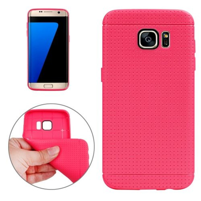 Magenta Honeycomb Grippy Samsung Galaxy S7 EDGE Case   Protective Samsung Galaxy S7 EDGE Cases   Protective Samsung Galaxy S7 EDGE Covers   iCoverLover